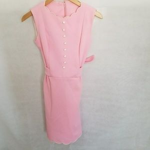1960s Pale Pink, Sleeveless Mini Party Dress